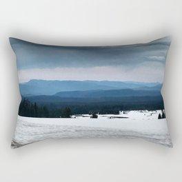 Crater Lake Mountains Rectangular Pillow