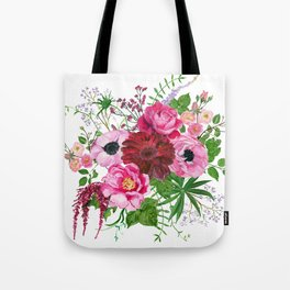 Burgundy bouquet Tote Bag
