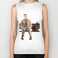 forrest Biker Tanks featuring Forrest Gump by A Deniz Akerman