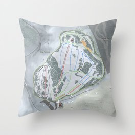 Sky Tavern Resort Trail Map Throw Pillow