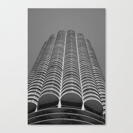 Marina City Tower Photo, Chicago, Architecture Canvas Print