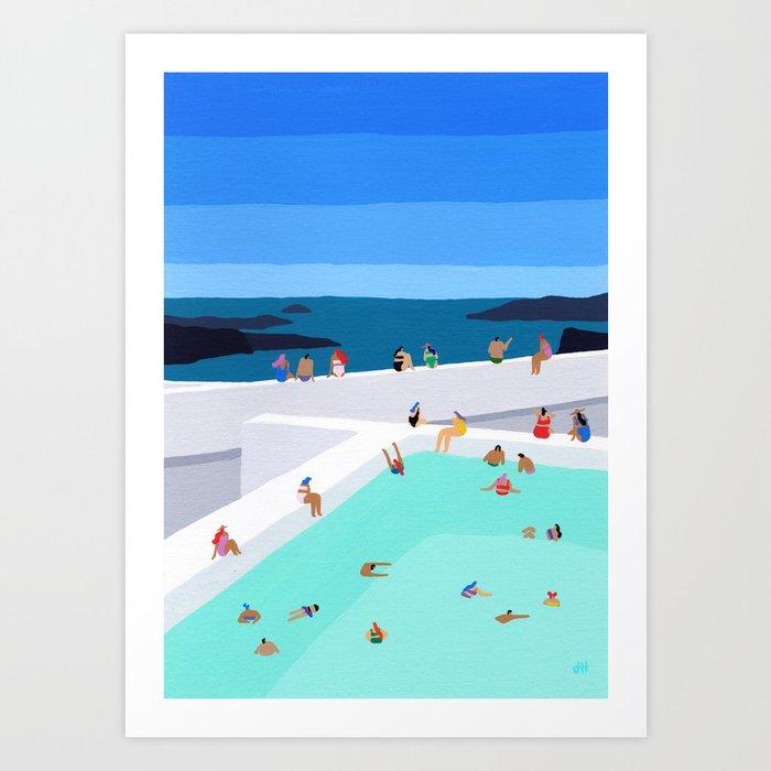 Santorini sun Kunstdrucke
