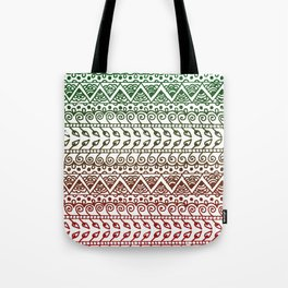 Holiday Henna Pattern Tote Bag