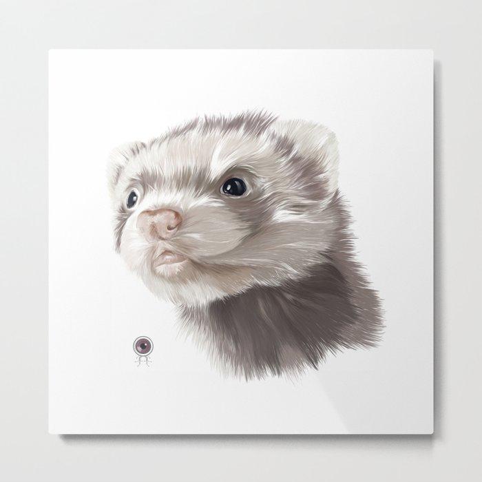 Ferret Metal Print