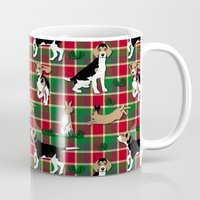hunting Mugs featuring Hunting Tartan by Vannina