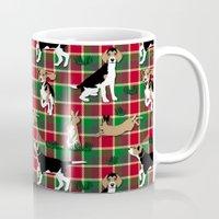 hunting Mugs featuring Hunting Tartan by Vannina