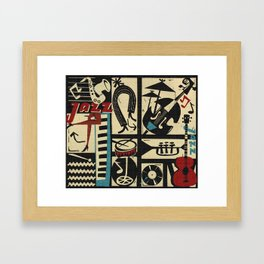 Jazzz Framed Art Print