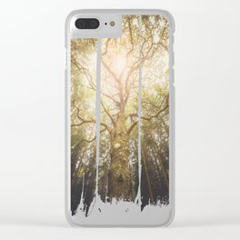 I found a tree in the forest Clear iPhone Case
