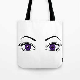 Violet Eyes (Both Eyes Open) Tote Bag