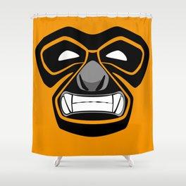 Gibbon Wrestler Shower Curtain