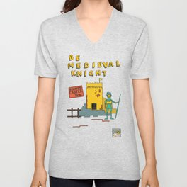 Afternoon at the Medieval Age (a) Unisex V-Neck