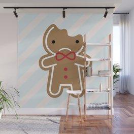Sad Bitten Cookie Cute Gingerbread Man Wall Mural
