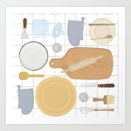 kitchenware collection Art Print