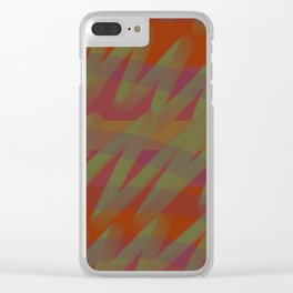 Volcano scribble Clear iPhone Case