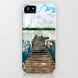 Old Wooden Jetty By Lake - Jetties Around The World iPhone Case