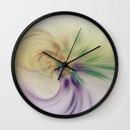 Fall Festive Fractal Wall Clock