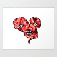 FACEY MEAT HEART Art Print