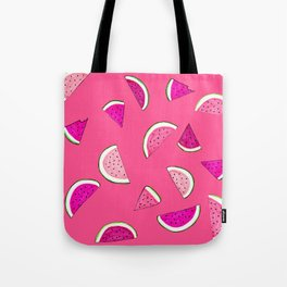 Bright Pink 'Watermelon Dreaming' Pattern Tote Bag