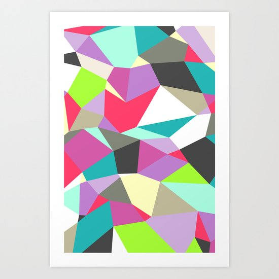 Geomesh 02 Art Print