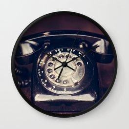 Vintage Rotary Telephone Wall Clock