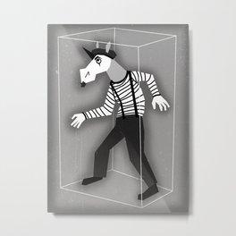 Mime Unicorn Metal Print