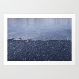 Split Ice Art Print