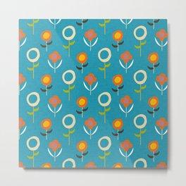 flowers blue Metal Print
