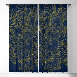 Daffodils by Night Blackout Curtain