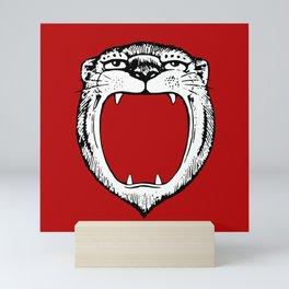 Tiger Head Red Mini Art Print