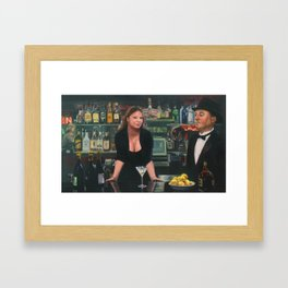Bar at the Corner Cafe Framed Art Print
