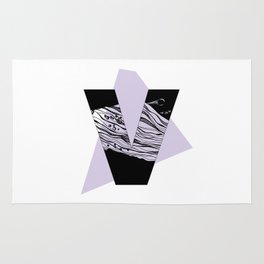 The letter V Rug