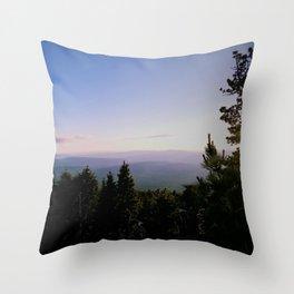 Cascade Mountain View Throw Pillow