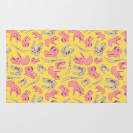 Skull Roll - Yellow & Pink Palette Rug