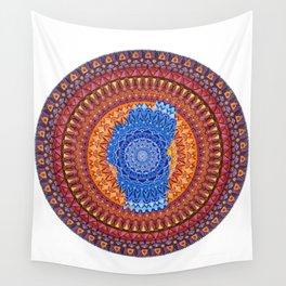 Lake Tahoe Mandala - OG Colors Wall Tapestry