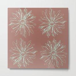 cedar + mint daisy Metal Print