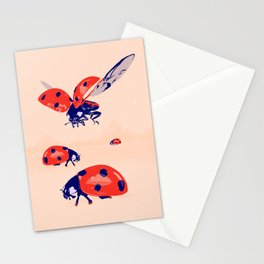 Ladybug insect farm Stationery Cards