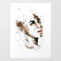 jasmine Art Prints featuring Jasmine by Maurice Zombie