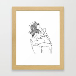 TWO KINGS DANCING Framed Art Print