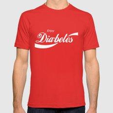 Enjoy Diabetes Mens Fitted Tee Red MEDIUM