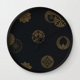 Vintage Japanese pattern Wall Clock