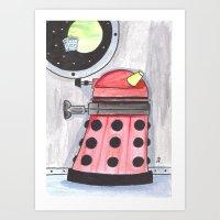 dalek Art Prints featuring Dalek by JerryFleming