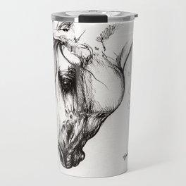 Arabian horse drawing tattoo Travel Mug