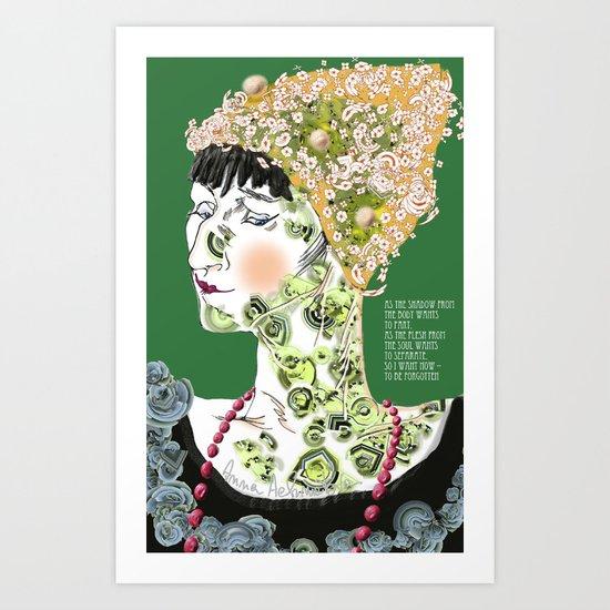 Anna Achmatova Art Print