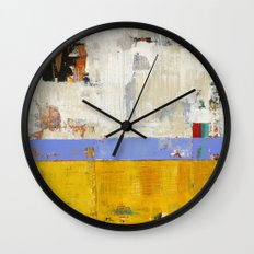 Amenity Abstract Landscape Yellow Modern Shawn McNulty Wall Clock