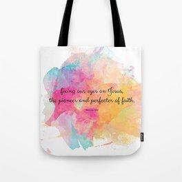 Perfecter of Faith, Scripture Tote Bag Tote Bag