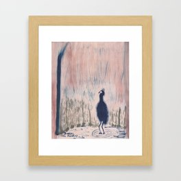 Have You Heard About the Bird? Framed Art Print