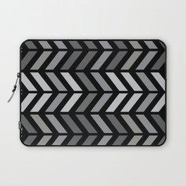 Chevron Black Gray Laptop Sleeve