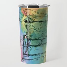 Watercolor for Elephants. Travel Mug