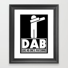 Dab Like No One's Watching Framed Art Print