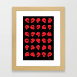 redhead - red on black Framed Art Print